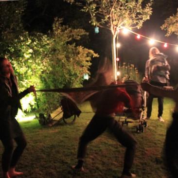 La fiesta à l'arrivéeautour de Menton